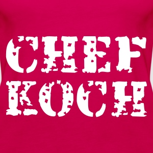 Pink Chef Koch Tops - Frauen Premium Tank Top