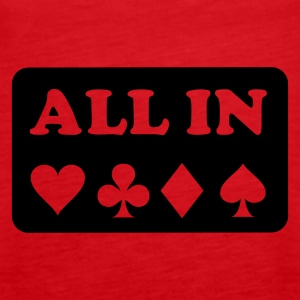 Rot Poker - All in Tops - Frauen Premium Tank Top