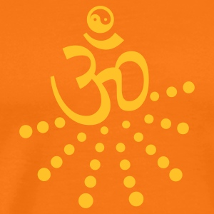 Golden orange om yin yang (1c) Men's T-Shirts - Men's Premium T-Shirt