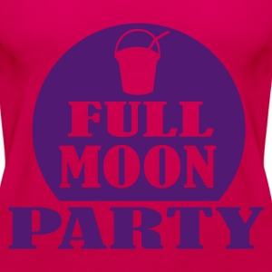 Pink full moon party Tops - Women's Premium Tank Top