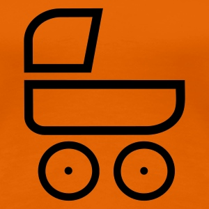 Orange Kinderwagen T-Shirts - Frauen Premium T-Shirt