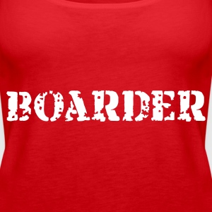 Rot Boarder Tops - Frauen Premium Tank Top