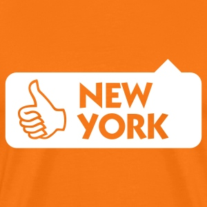Golden orange New York Thumbs Up (1c) Men's T-Shirts - Men's Premium T-Shirt