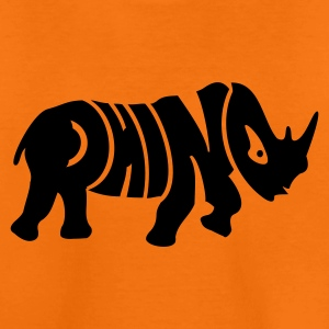 Orange Nashorn / Rhino (1c) Kids' Shirts - Teenage Premium T-Shirt
