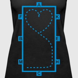 Black Dressage Riding heart Tops - Women's Premium Tank Top