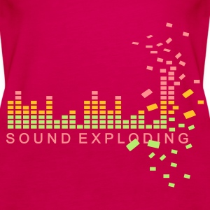 Pink soundexploding Tops - Women's Premium Tank Top