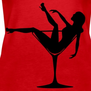 Girl in a Glass - Women's Premium Tank Top