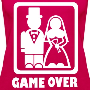 Pink Game over Tops - Frauen Premium Tank Top