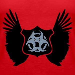 Rød winged Biohazard Monster Emblem (2c) Topper - Premium singlet for kvinner