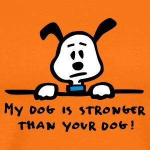 Golden orange my_dog_is_stronger_3c Men's T-Shirts - Men's Premium T-Shirt