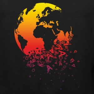 Black World dissolves Men's T-Shirts - Men's Premium Tank Top