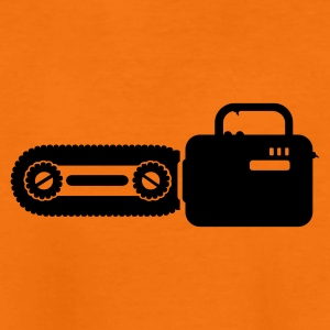 Orange scie à chaîne / chain saw (1c) T-shirts Enfants - T-shirt Premium Ado