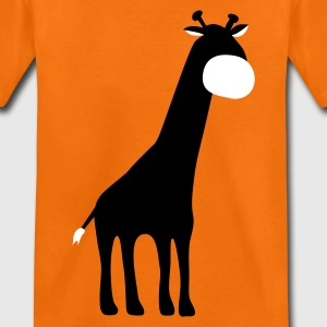 Orange Giraffe Kids' Shirts - Teenage Premium T-Shirt