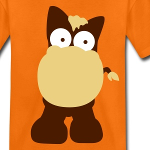 Orange Cheval dans le style cartoon T-shirts Enfants - T-shirt Premium Ado