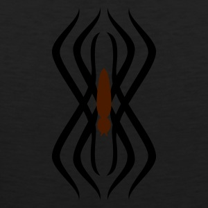 Oliv tribal Spinnen-Tatoo / tribal spider tatoo (2c) T-Shirts - Männer Premium Tank Top