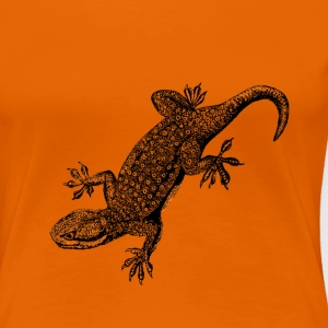 Golden orange gecko Women's T-Shirts - Women's Premium T-Shirt