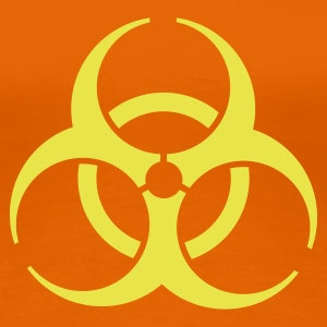 Orange biohazard T-shirts - T-shirt Premium Femme