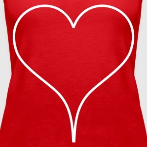 Red Heart Tops - Women's Premium Tank Top