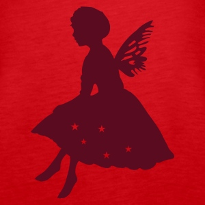 Red Little elf with wings Tops - Women's Premium Tank Top