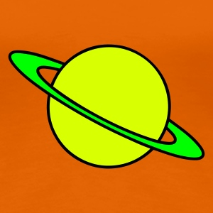 Goldorange Planet Saturn T-Shirts - Frauen Premium T-Shirt