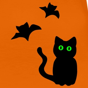 Halloween Cat T-Shirt orange - Frauen Premium T-Shirt