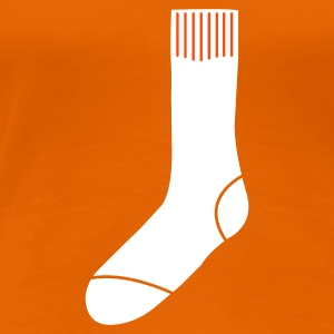 Orange Socke T-Shirts - Frauen Premium T-Shirt