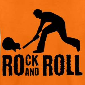 Orange rock_and_roll_e_1c Kinder T-Shirts - Teenager Premium T-Shirt