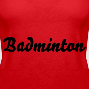 Rot Badminton Tops - Frauen Premium Tank Top