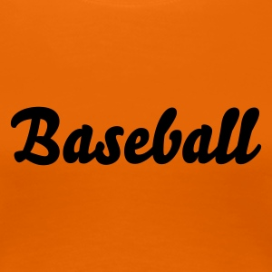 Goldorange Baseball T-Shirts - Frauen Premium T-Shirt