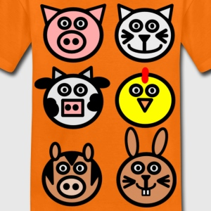Orange Tiere vom Bauernhof Kinder T-Shirts - Teenager Premium T-Shirt