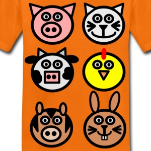 Orange farm animals Kids' Shirts - Teenage Premium T-Shirt