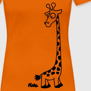 Orange Giraffe T-Shirts - Frauen Premium T-Shirt