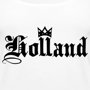 White Holland with crown Tops - Women's Premium Tank Top