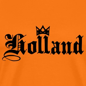 Orange doré Holland with crown T-shirts - T-shirt Premium Homme