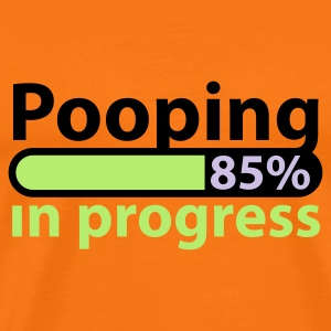 Goldorange Pooping in Progress @ T-Shirts - Premium T-skjorte for menn