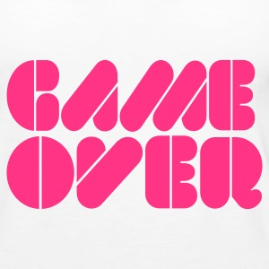 Weiß Game over Tops - Frauen Premium Tank Top