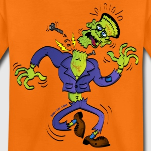 Orange Frankenstein has a Screw Loose Kids' Shirts - Teenage Premium T-Shirt