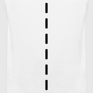 White Strichellinie / dashed (1c) Men's T-Shirts - Men's Premium Tank Top