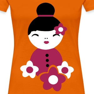 Goldorange little geisha T-Shirts - Frauen Premium T-Shirt