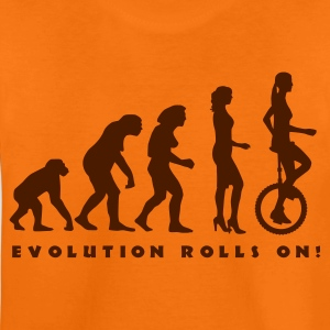 evolution_einradfahrerin_1c_b T-shirts - Teenager premium T-shirt