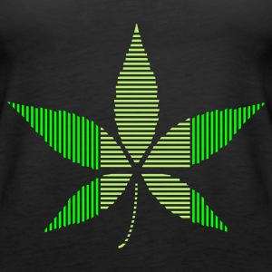 Black Hemp - Cannabis leaf in stripes Tops - Women's Premium Tank Top