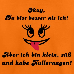 Orange Kulleraugen Kinder T-Shirts - Teenager Premium T-Shirt