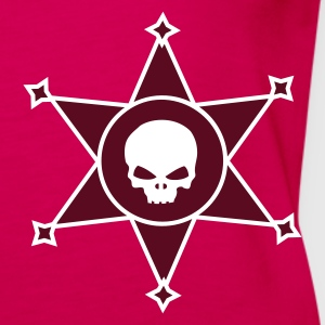 Pink Sheriff's star with Skull icon Tops - Women's Premium Tank Top