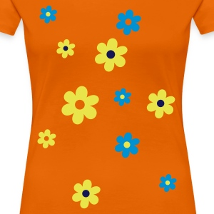 Orange Flowers Women's T-Shirts - Women's Premium T-Shirt