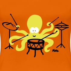 Golden orange Octopus (c2) Women's T-Shirts