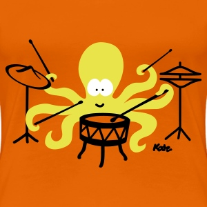 Golden orange Octopus (c2) Women's T-Shirts - Women's Premium T-Shirt
