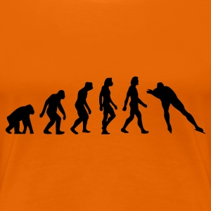 Oranje Evolution of Skating (1c) T-shirts - Vrouwen Premium T-shirt