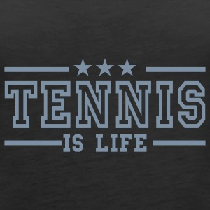 Svart tennis is life deluxe Topper - Premium singlet for kvinner