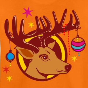 CHRISTMAS REINDEER / Rentier | Kindershirt orange - Teenager Premium T-Shirt