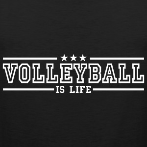 volleyball is life deluxe T-shirts - Mannen Premium tank top